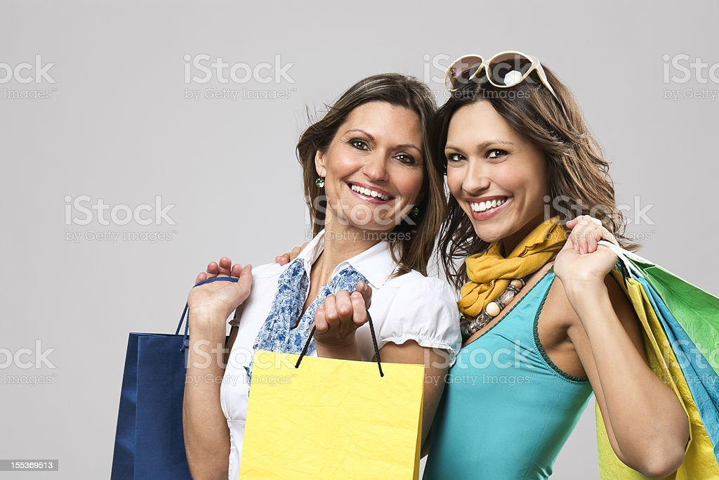 Women with shopping bags royalty-free stock photo