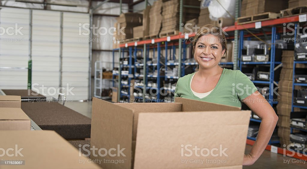 Women working at a shipping company royalty-free stock photo