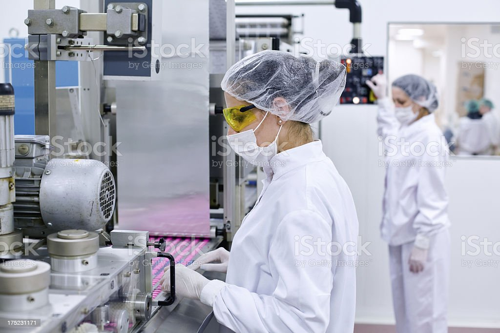 Women working at the factory royalty-free stock photo