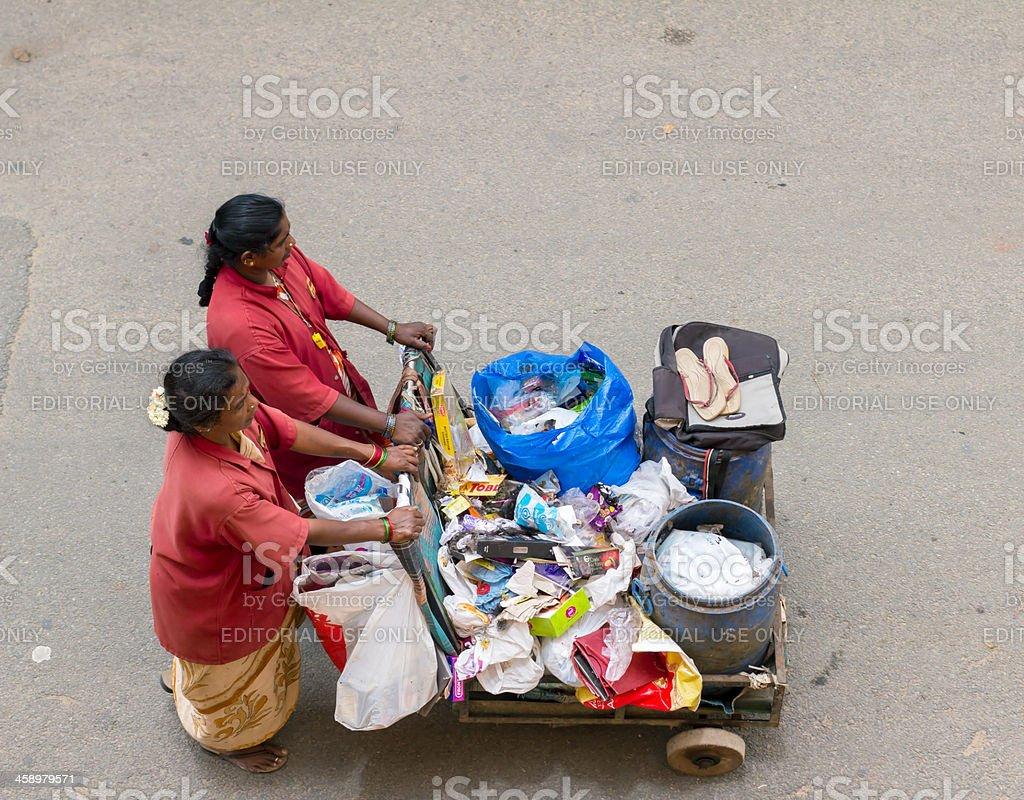 Women working in Bangalore, India stock photo