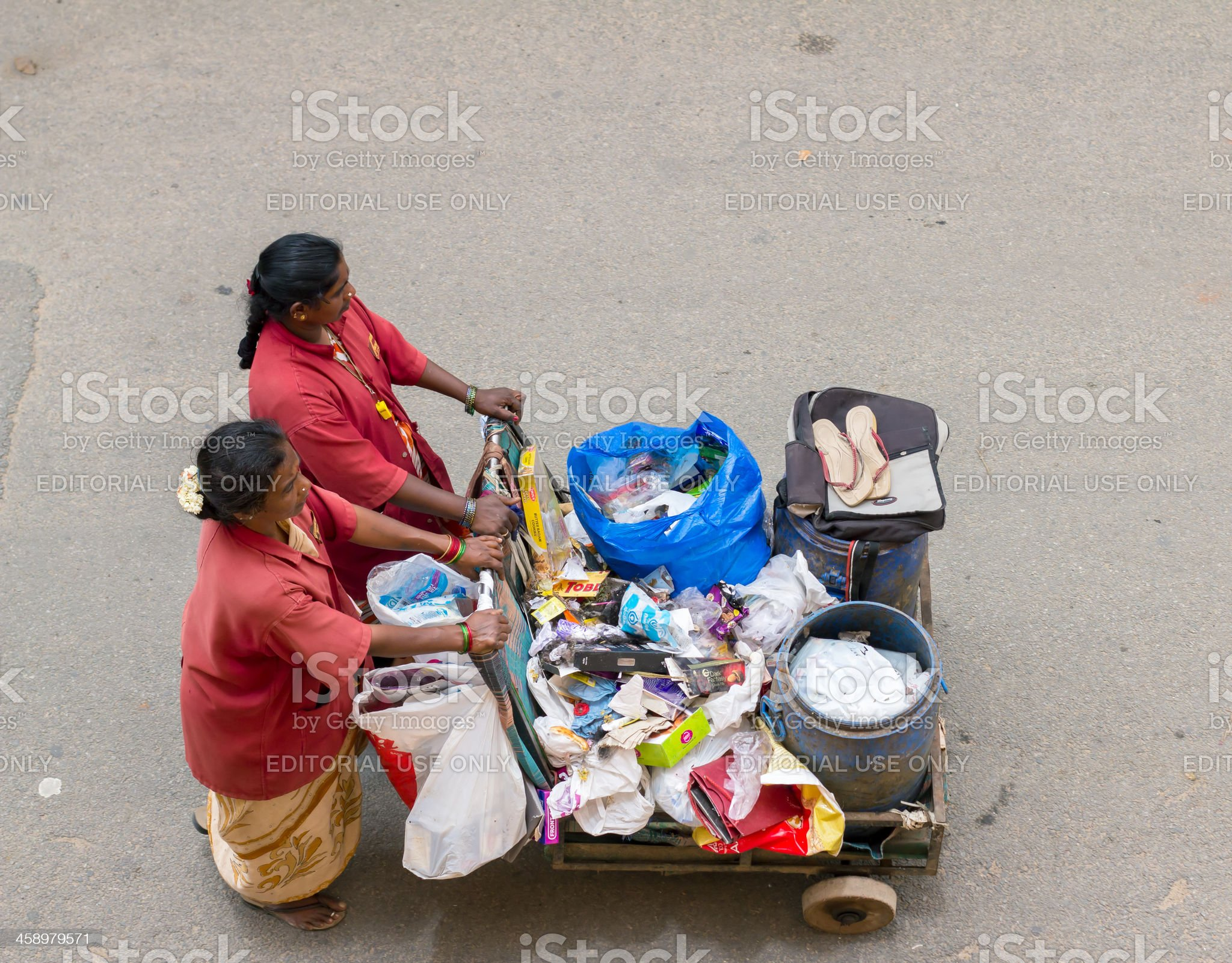 Women working in Bangalore, India royalty-free stock photo