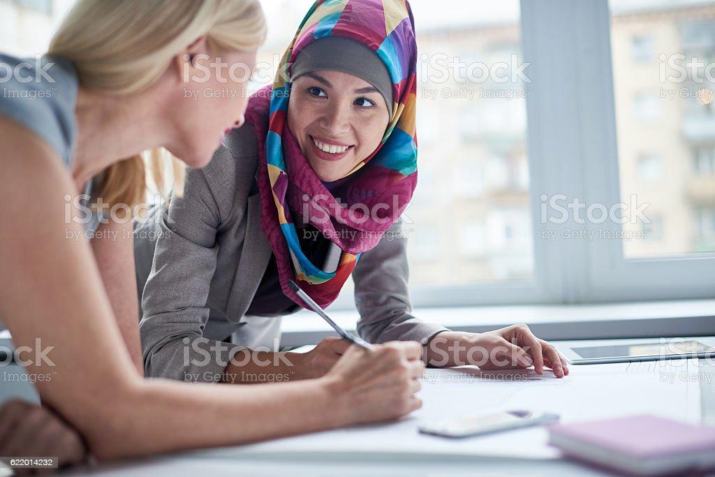 Women working in team stock photo