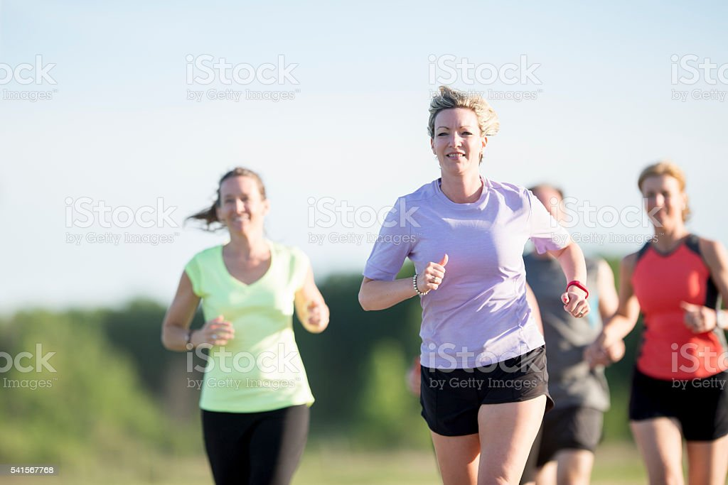 Women Working Out Together stock photo
