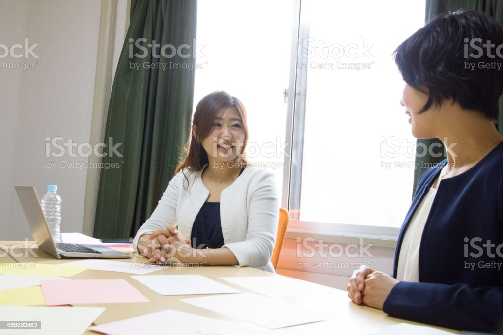 Women Working Together stock photo