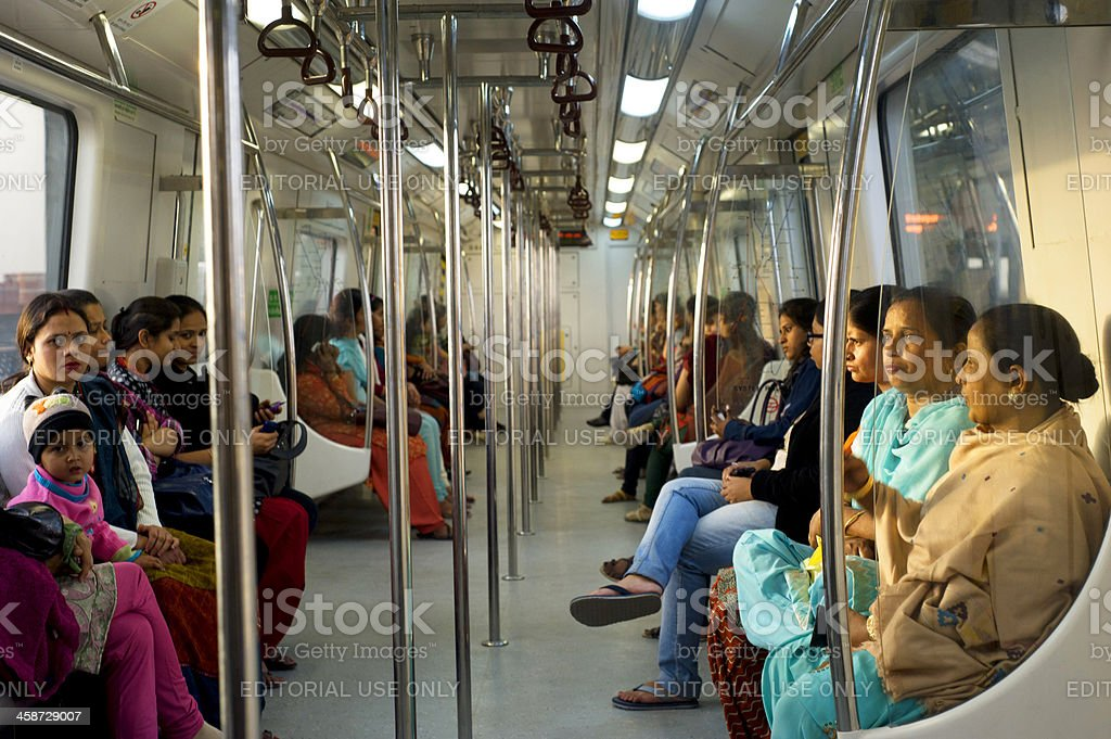 Women-Only Subway Cars royalty-free stock photo