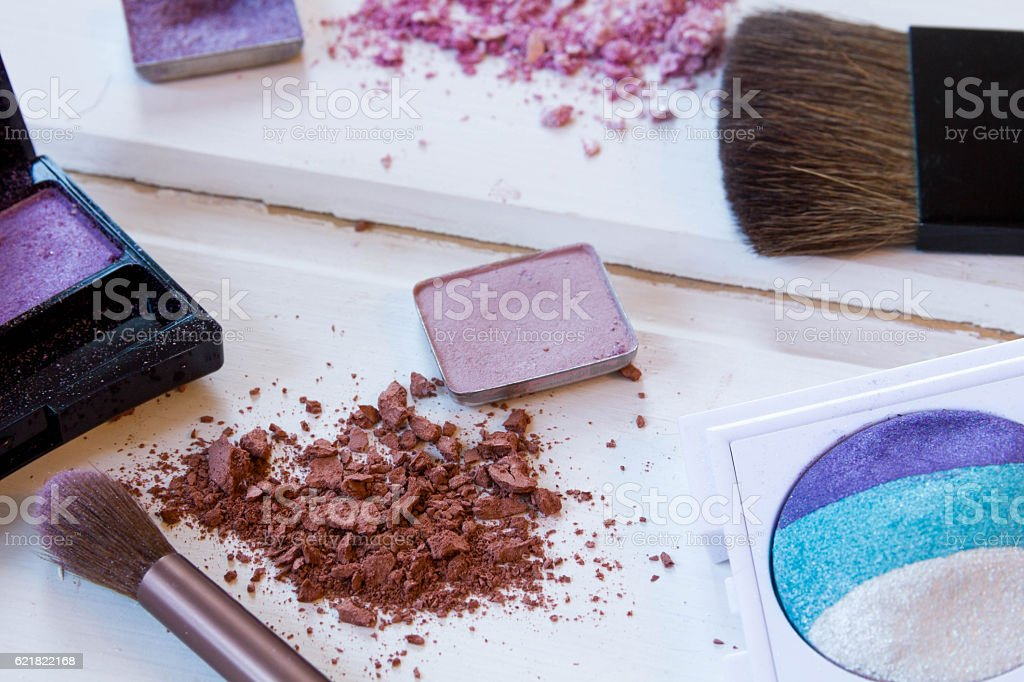 women's accessories cosmetics. stock photo