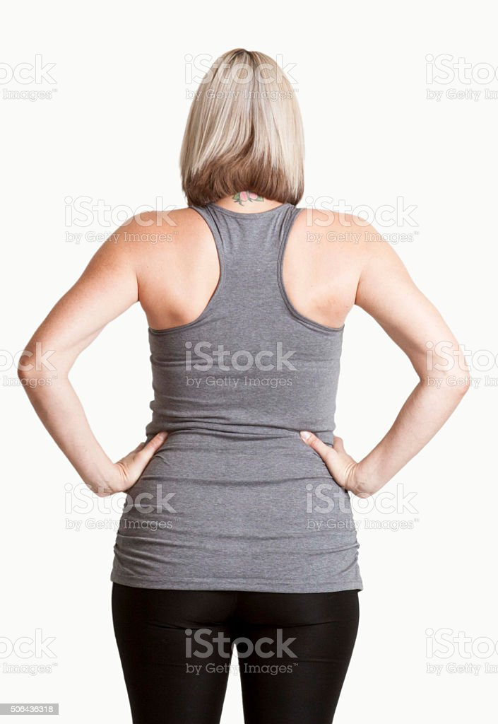 Women's back stock photo