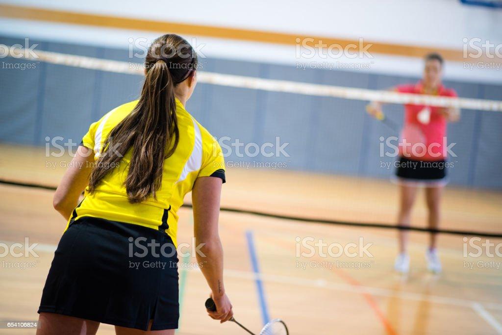 Women's badminton stock photo