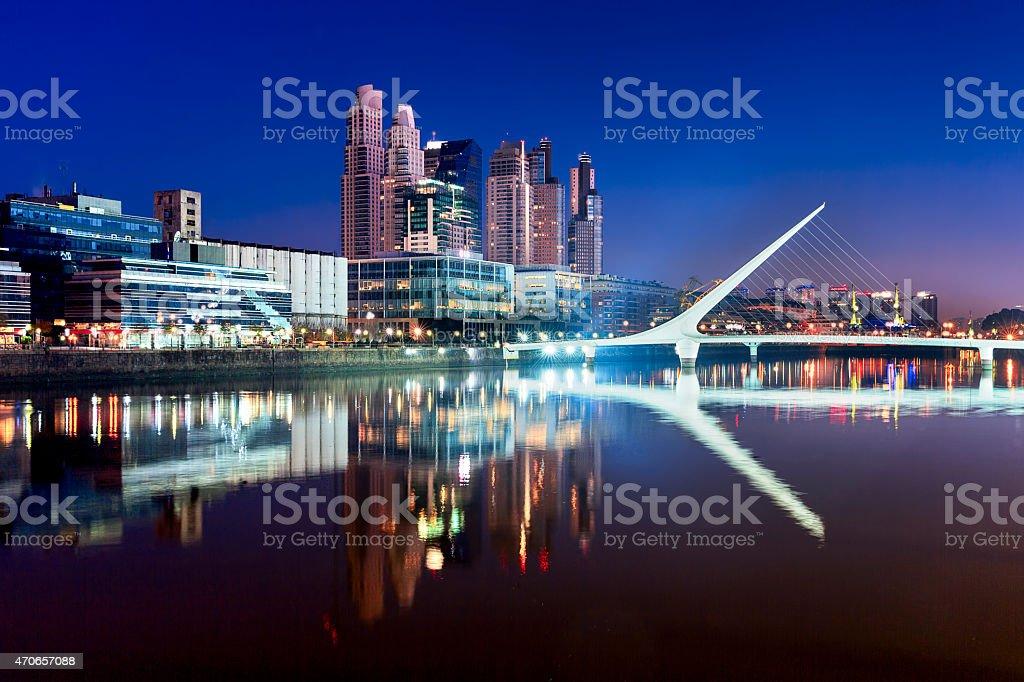 Women's Bridge in Buenos Aires (Puente de la Mujer) stock photo