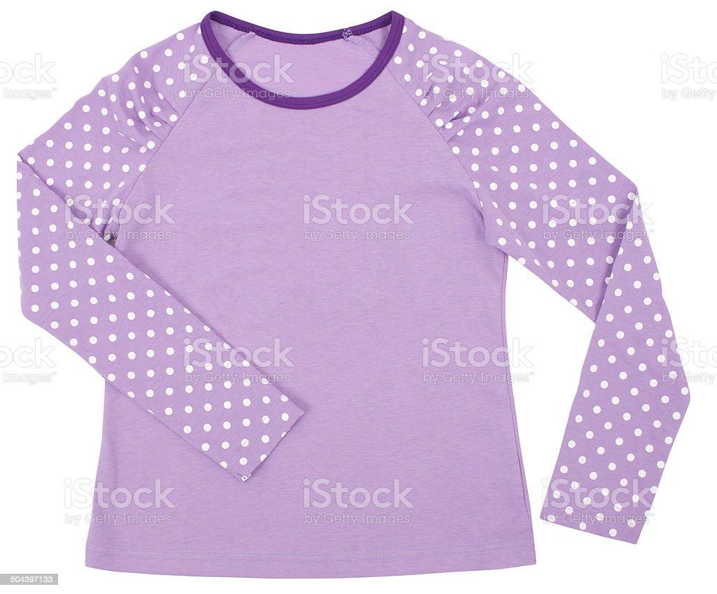 Women's child pink shirt. stock photo