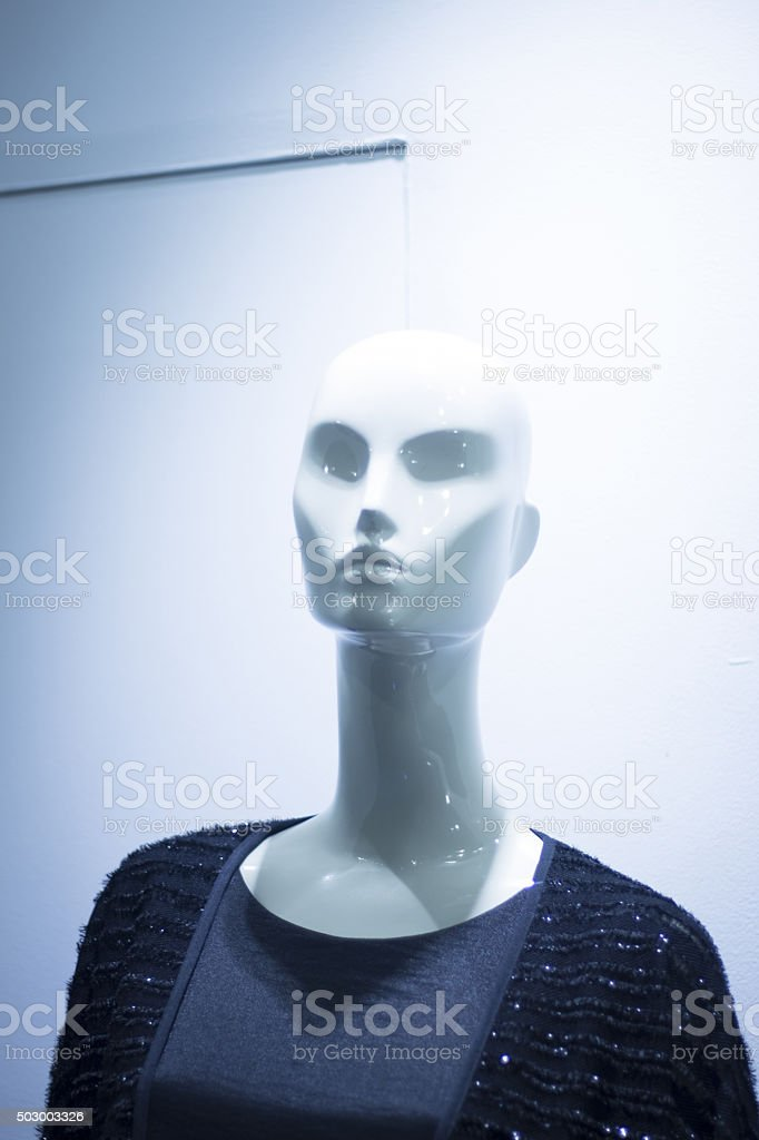 Women's clothes fashion store mannequin stock photo