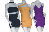 Women's clothing on mannequins Images