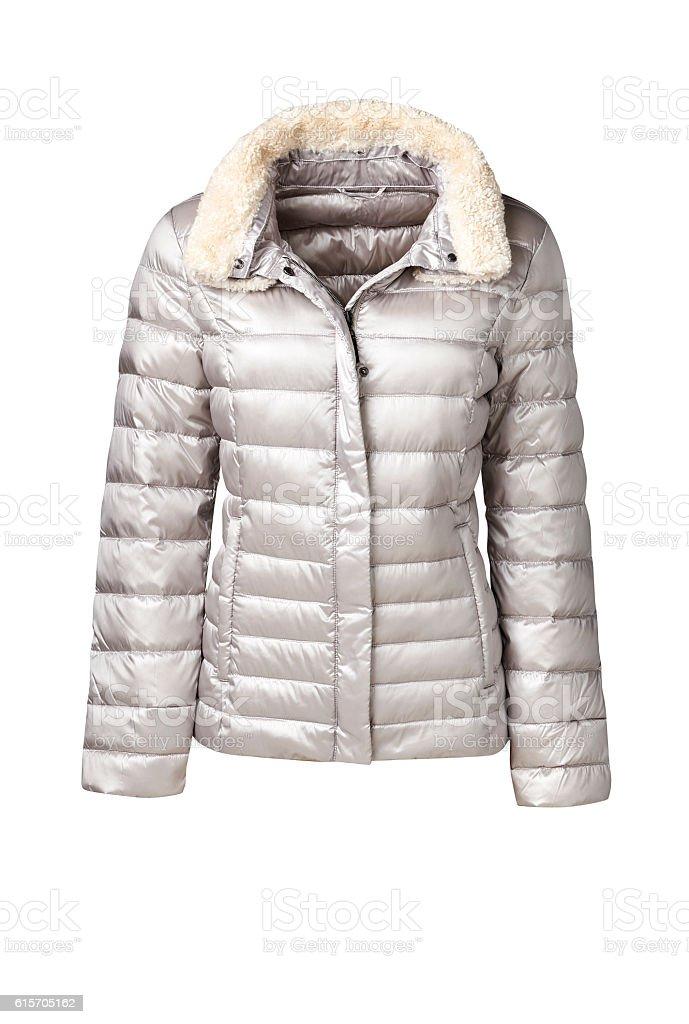 womens coat isolated on white stock photo