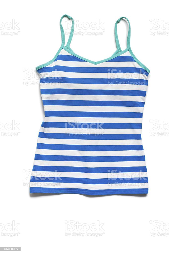Women's Cotton Tank Top Isolated on White Background royalty-free stock photo