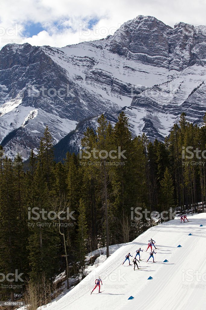 Women's Cross Country Ski Race stock photo