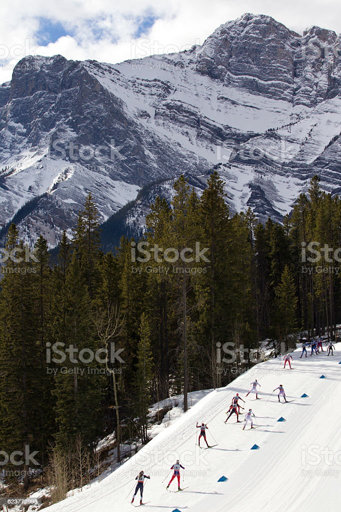 Women's Cross Country Ski Race stock photo