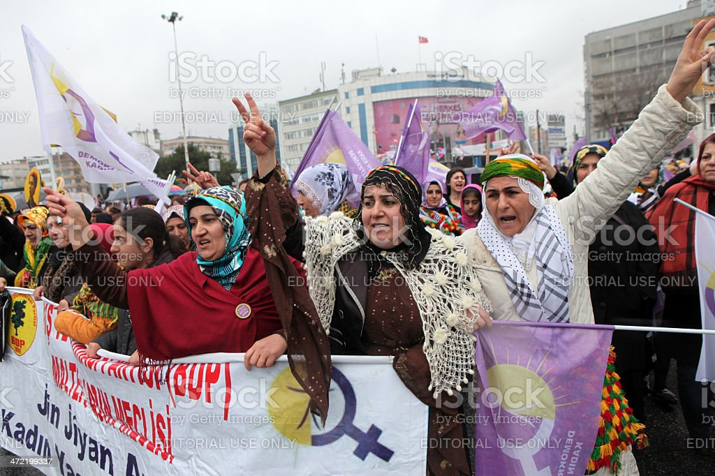 Women's Day in Istanbul. stock photo
