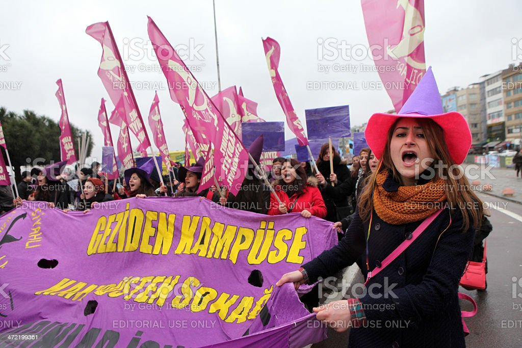Women's Day in Istanbul stock photo