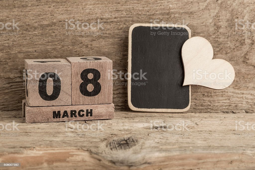 Womens Day Template With Cube Calendar Stock Photo 508007392 Istock