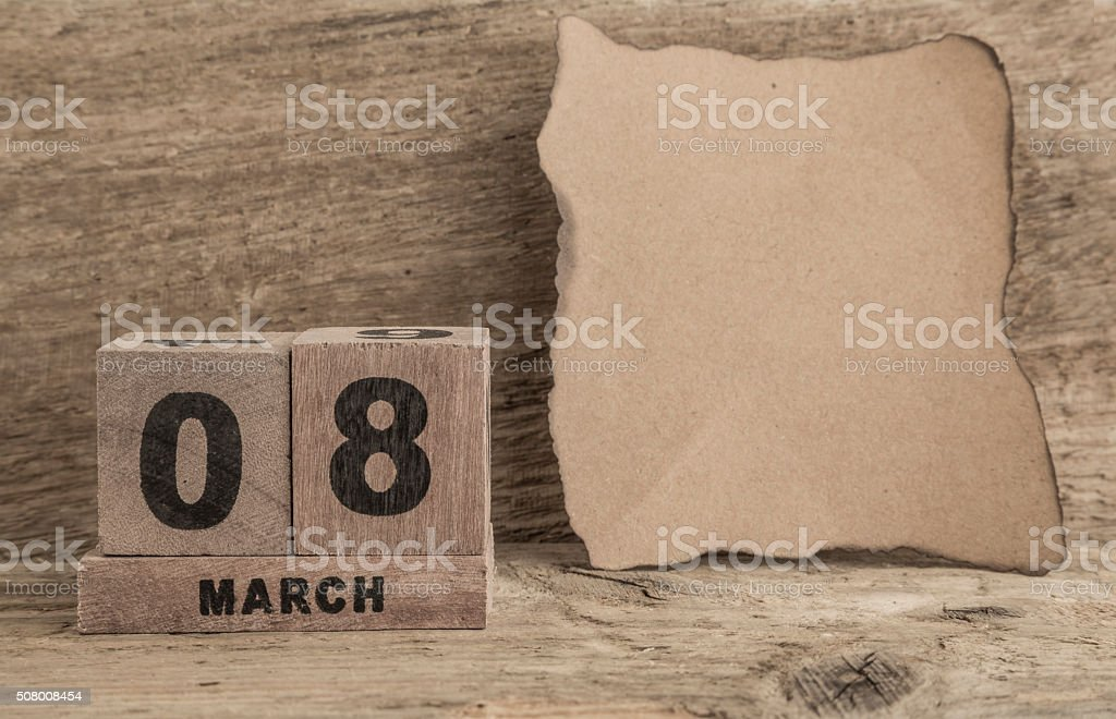 Womens Day Template With Cube Calendar Stock Photo 508008454 Istock