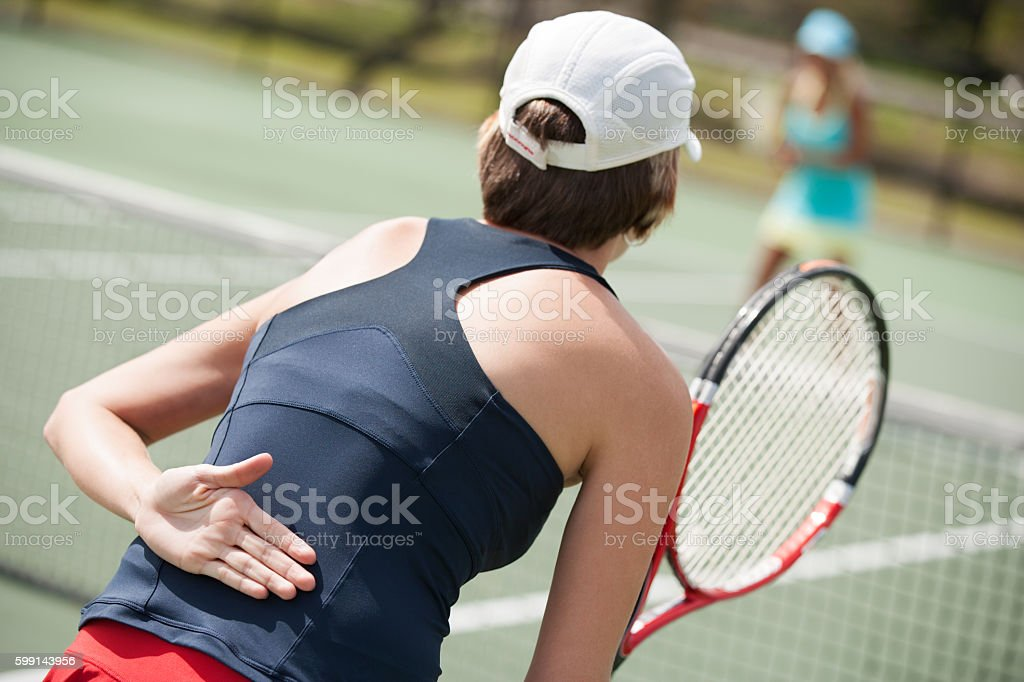women's doubles tennis hand signal stock photo
