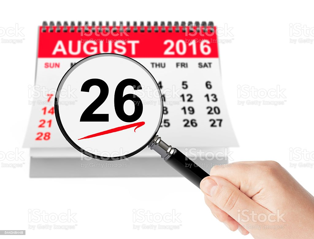 Women's Equality Day Concept. 26 August 2016 calendar with magni stock photo