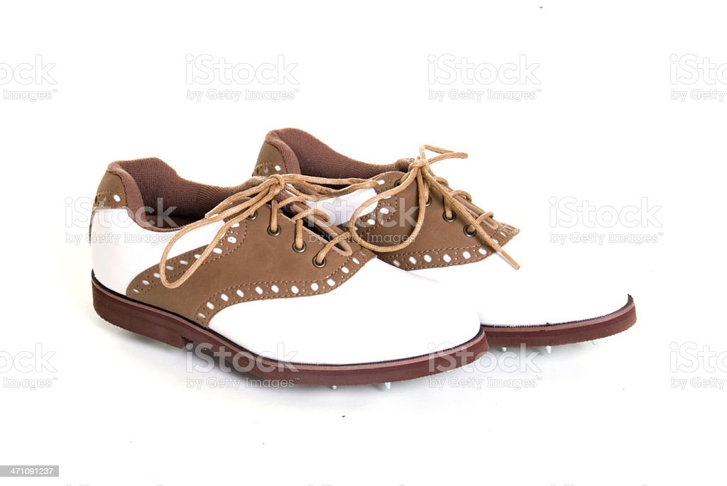 Women's golf shoes stock photo