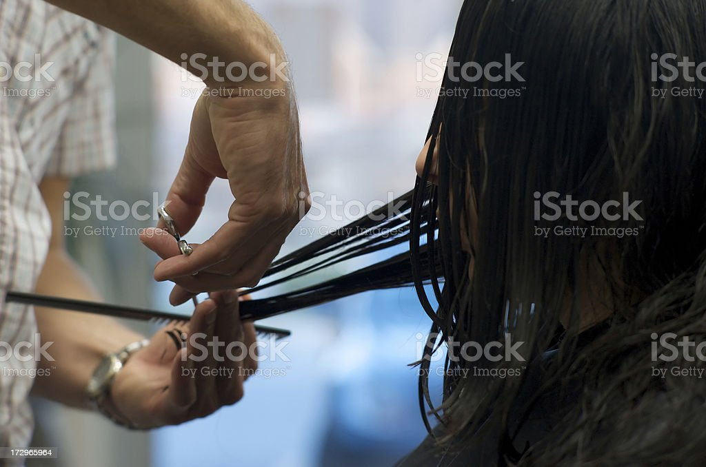 Women's Haircut royalty-free stock photo