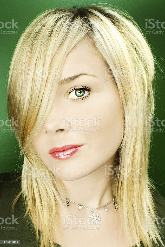 womens hairlsstyle royalty-free stock photo