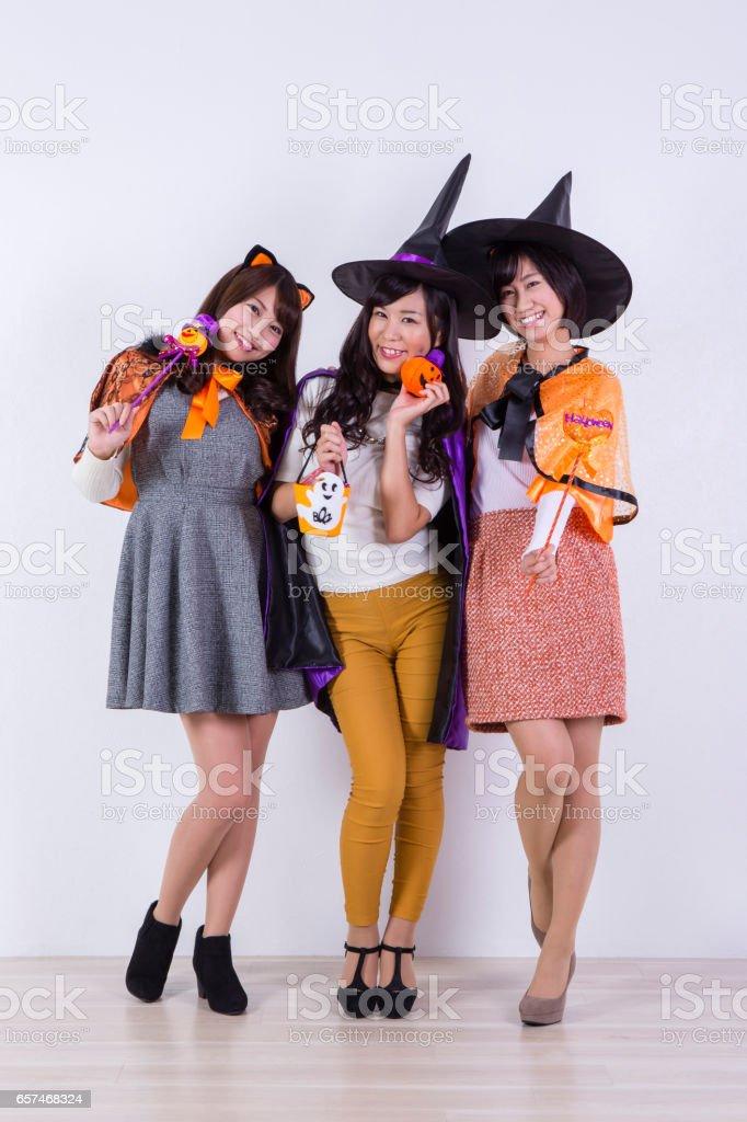 Women's Halloween costume. stock photo