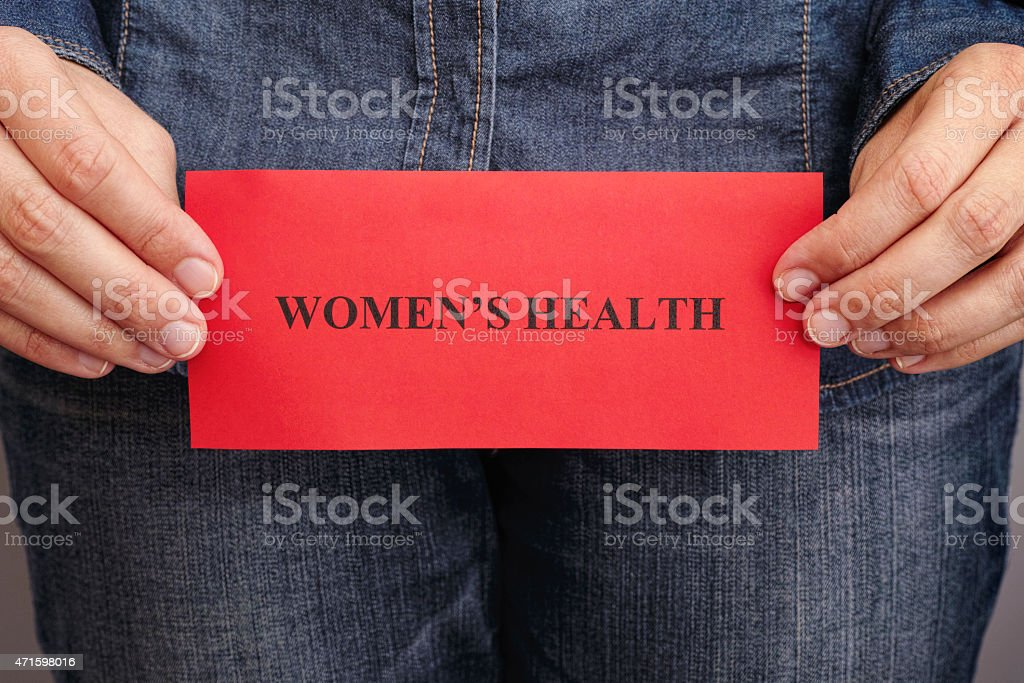 Women's health concept stock photo