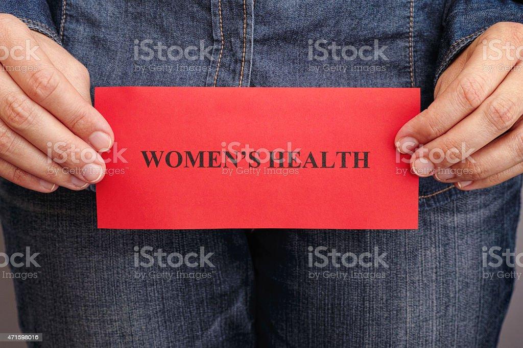 Women's health concept stock photo