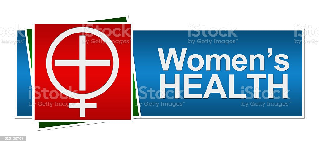 Womens Health Red Green Blue Banner stock photo