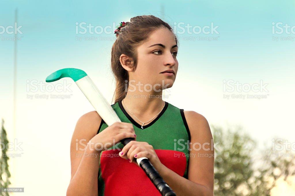 Women's hockey stock photo