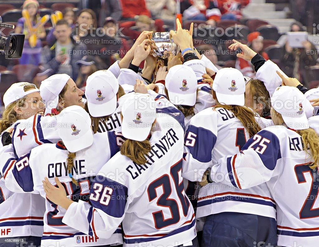 IIHF 2013 Women's Ice Hockey World Championship royalty-free stock photo