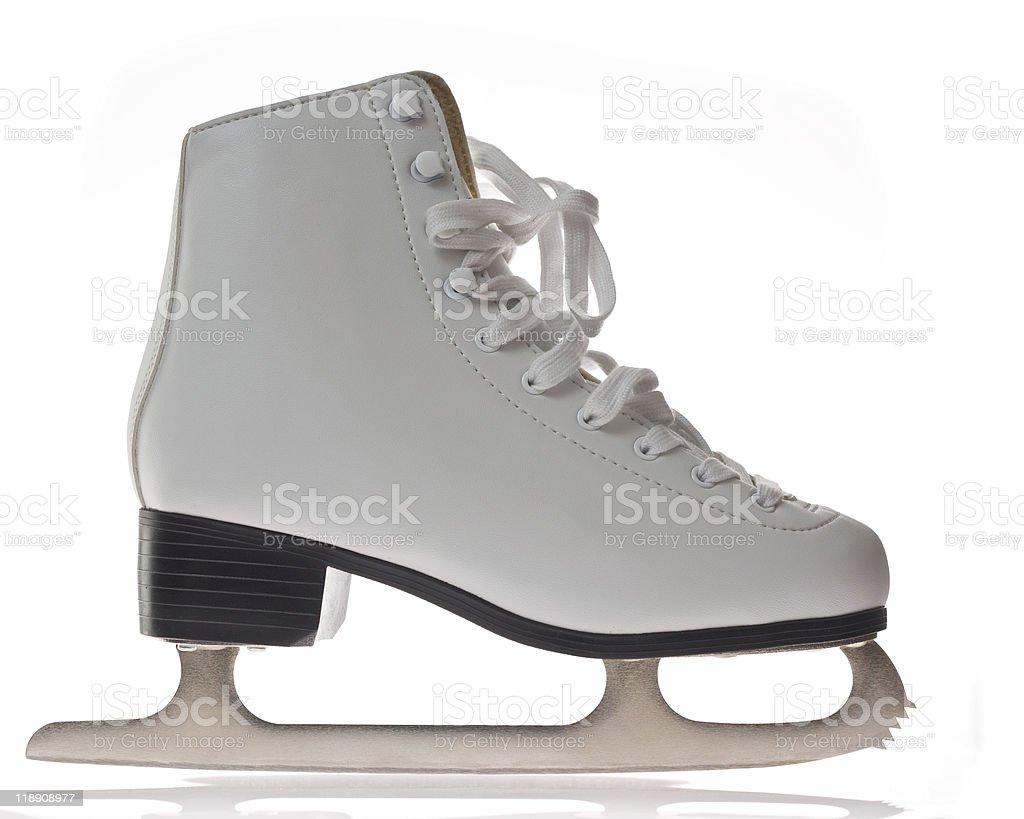 Women's ice skate royalty-free stock photo