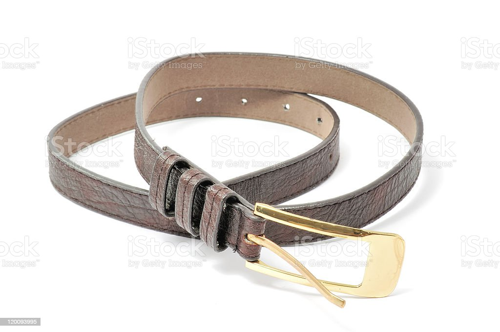 Women's Leather Belt stock photo