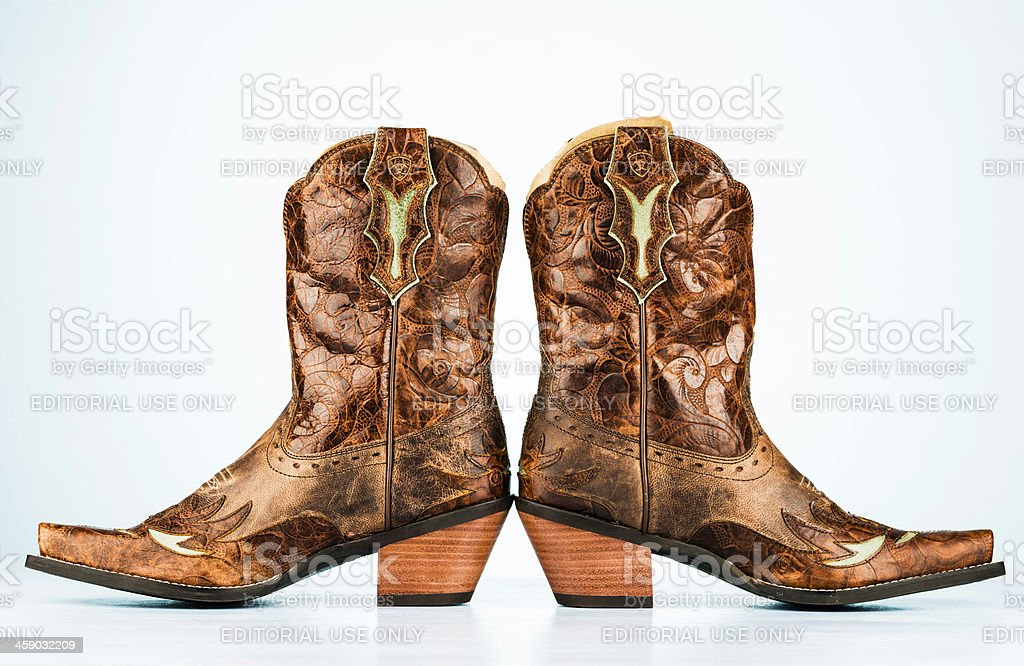 Women's Leather Cowboy Boots royalty-free stock photo