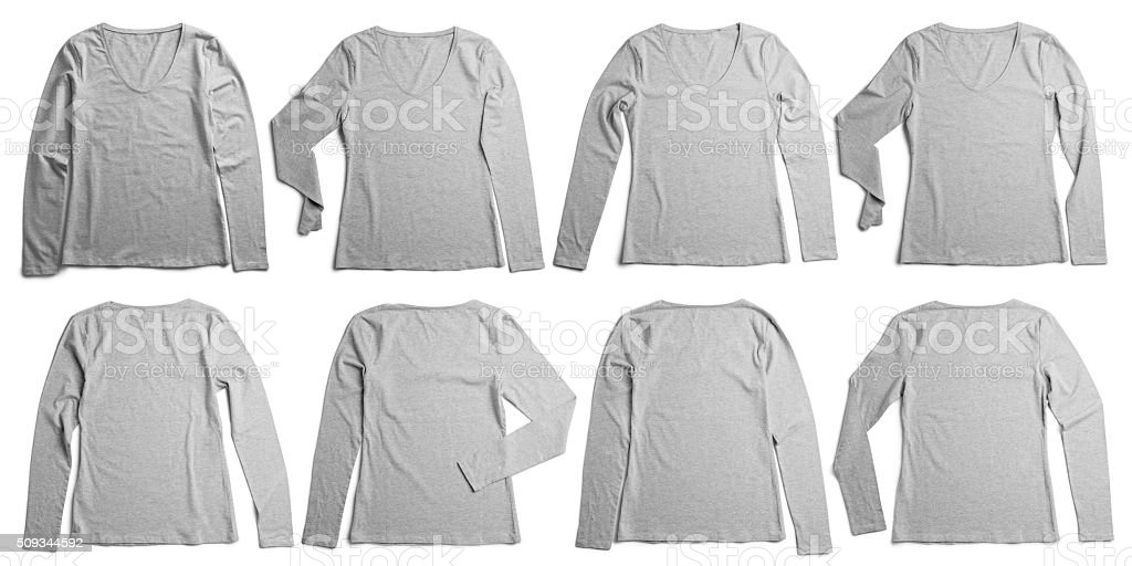 Women's long sleeve t shirt stock photo