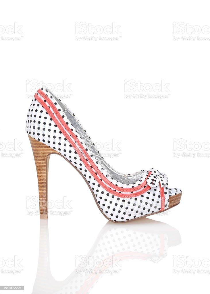 Women's multi-colored High Heels shoe stock photo