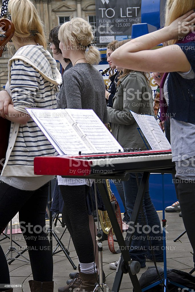 Women's orchestra royalty-free stock photo