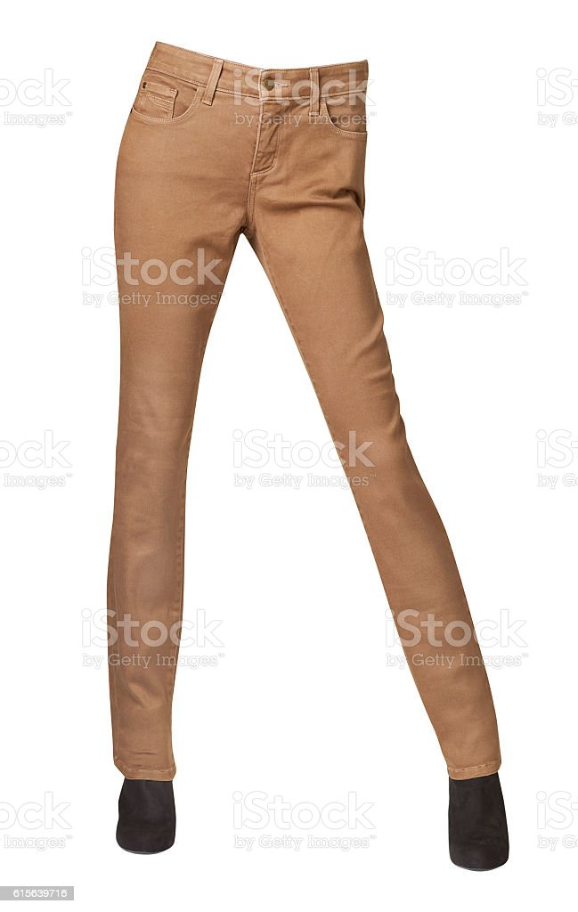 womens pants isolated on white background stock photo