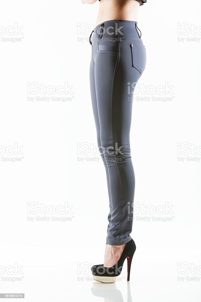 Women's pants, side royalty-free stock photo