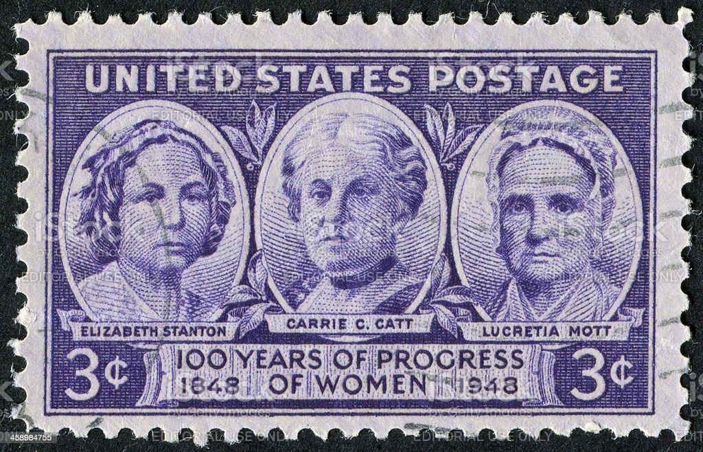 Women's Progress Stamp stock photo