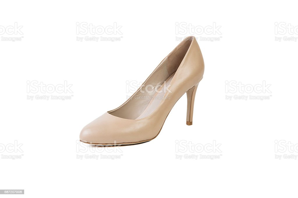 women's shoes on a white background online sale stock photo
