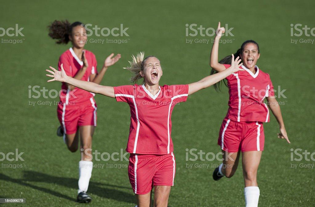 Womens Soccer royalty-free stock photo