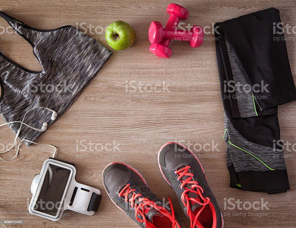 Women's Sports Equipment stock photo