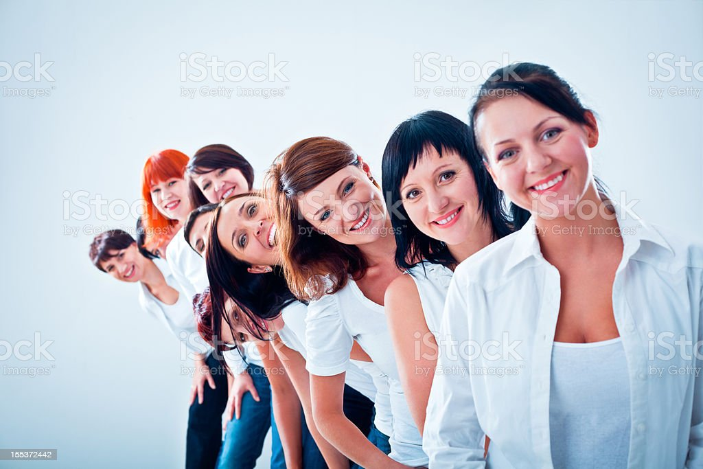 Women's team royalty-free stock photo
