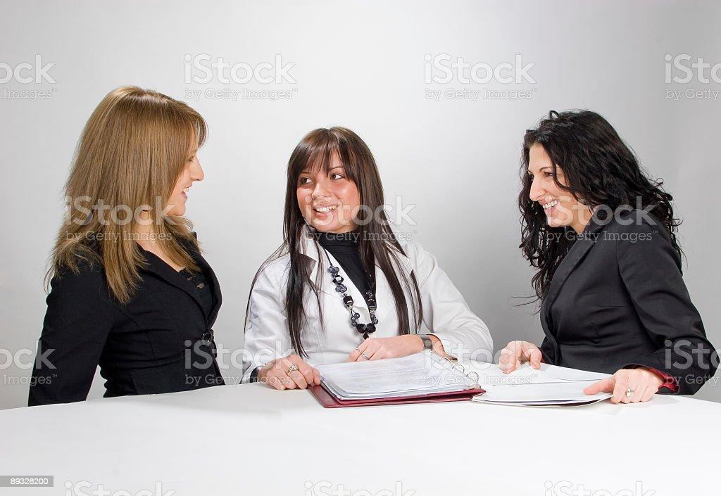 women's teamwork royalty-free stock photo