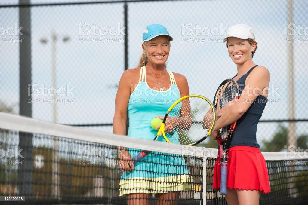 Women's tennis series stock photo